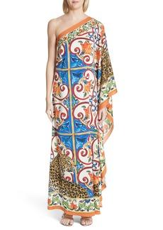 Dolce & Gabbana Dolce&Gabbana Maiolica Print Stretch Silk Caftan