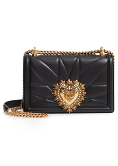 Dolce & Gabbana Dolce&Gabbana Medium Devotion Leather Shoulder Bag