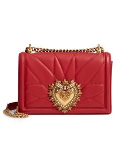 Dolce & Gabbana Dolce&Gabbana Medium Devotion Leather Shoulder Bag