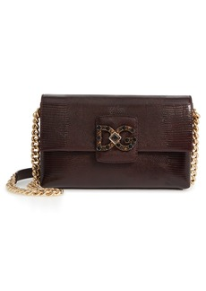 Dolce & Gabbana Dolce&Gabbana Medium Millennials Embossed Leather Shoulder Bag