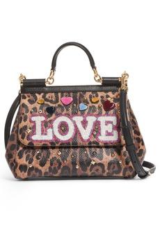 Dolce & Gabbana Dolce&Gabbana Medium Miss Sicily - Love Leo Satchel