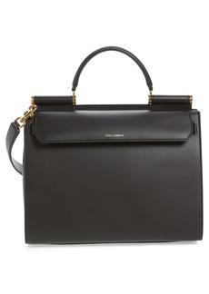 Dolce & Gabbana Dolce&Gabbana Medium Miss Sicily Calfskin Leather Satchel