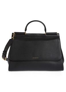 Dolce & Gabbana Dolce&Gabbana Medium Miss Sicily Soft Calfskin Leather Top Handle Satchel