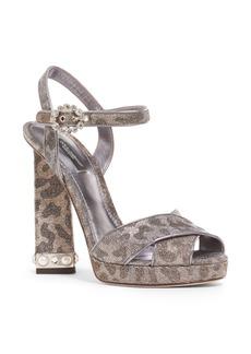 Dolce & Gabbana Dolce&Gabbana Metallic Leopard Print Sandal (Women)