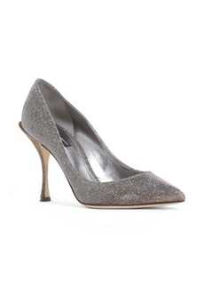 Dolce & Gabbana Dolce&Gabbana Metallic Pointy Toe Pump (Women)