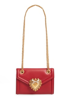 Dolce & Gabbana Dolce&Gabbana Micro Devotion Leather Crossbody Bag