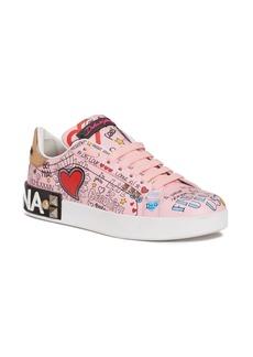 Dolce&Gabbana Mural Graffiti Sneaker (Women)