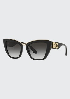 Dolce & Gabbana Dolce&Gabbana Oversized Plastic Cat-Eye Sunglasses