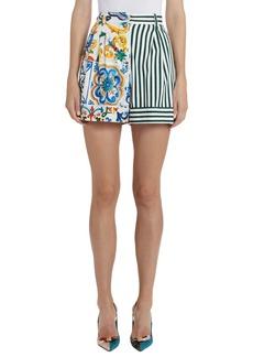 Dolce & Gabbana Dolce&Gabbana Patchwork Pleat Shorts