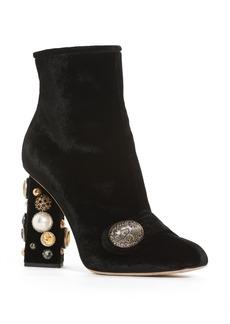 Dolce & Gabbana Dolce&Gabbana Pearl Statement Heel Bootie (Women)