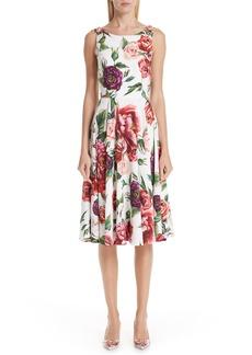 Dolce & Gabbana Dolce&Gabbana Peony Print A-Line Dress