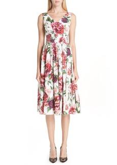 Dolce & Gabbana Dolce&Gabbana Peony Print Cotton Dress