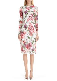 Dolce & Gabbana Dolce&Gabbana Peony Print Lace Dress