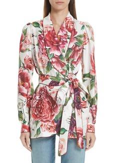 Dolce & Gabbana Dolce&Gabbana Peony Print Silk Jacket