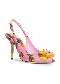 Dolce & Gabbana Dolce&Gabbana Pineapple Slingback Pump (Women)