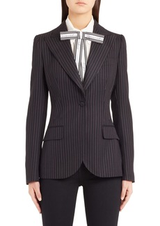 Dolce & Gabbana Dolce&Gabbana Pinstripe Stretch Wool Jacket