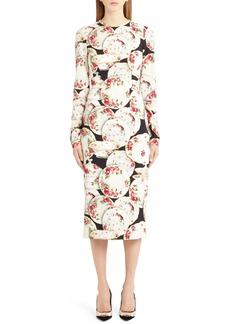 Dolce & Gabbana Dolce&Gabbana Plate Print Sheath Dress