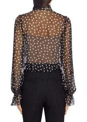 Dolce & Gabbana Dolce&Gabbana Polka Dot Sheer Chiffon Blouse