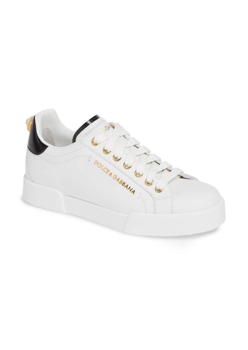 Dolce & Gabbana Dolce&Gabbana Portofino Embellished Sneaker (Women)