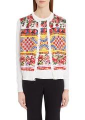 Dolce & Gabbana Dolce&Gabbana Print Silk Cardigan