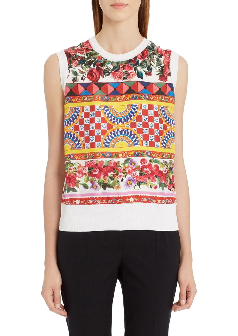 Dolce & Gabbana Dolce&Gabbana Print Silk Top