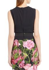 Dolce & Gabbana Dolce&Gabbana Rose Print Cady Top