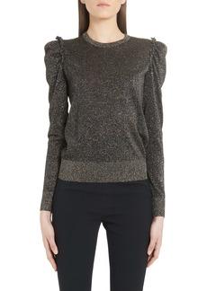 Dolce & Gabbana Dolce&Gabbana Ruched Shoulder Metallic Sweater