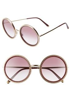 Dolce & Gabbana Dolce&Gabbana Sacred Heart 53mm Gradient Round Sunglasses