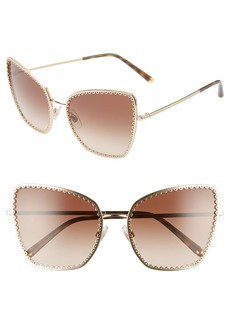 Dolce & Gabbana Dolce&Gabbana Sacred Heart 61mm Gradient Cat Eye Sunglasses