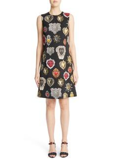 Dolce & Gabbana Dolce&Gabbana Sacred Heart Brocade Jacquard Dress