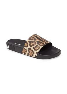 Dolce & Gabbana Dolce&Gabbana Saint Barth Leopard Print ZLogo Slide Sandal (Women)