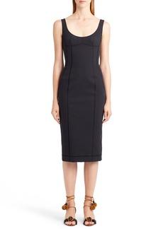 Dolce & Gabbana Dolce&Gabbana Seamed Scuba Midi Dress