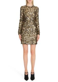 Dolce & Gabbana Dolce&Gabbana Sequin Leopard Print Sheath Dress
