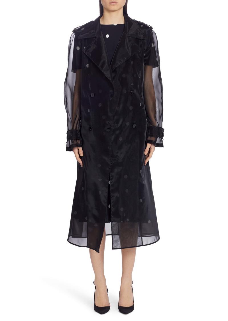 Dolce & Gabbana Dolce&Gabbana Sheer Organza Trench Coat