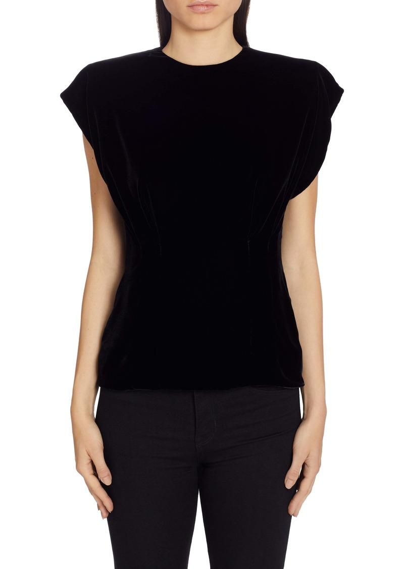 Dolce & Gabbana Dolce&Gabbana Shoulder Pad Velvet Top