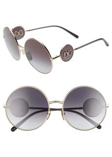 Dolce & Gabbana Dolce&Gabbana Sicilian Sweet 59mm Round Sunglasses
