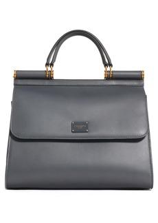 Dolce & Gabbana Dolce&Gabbana Sicily 58 Leather Satchel with Shoulder Strap