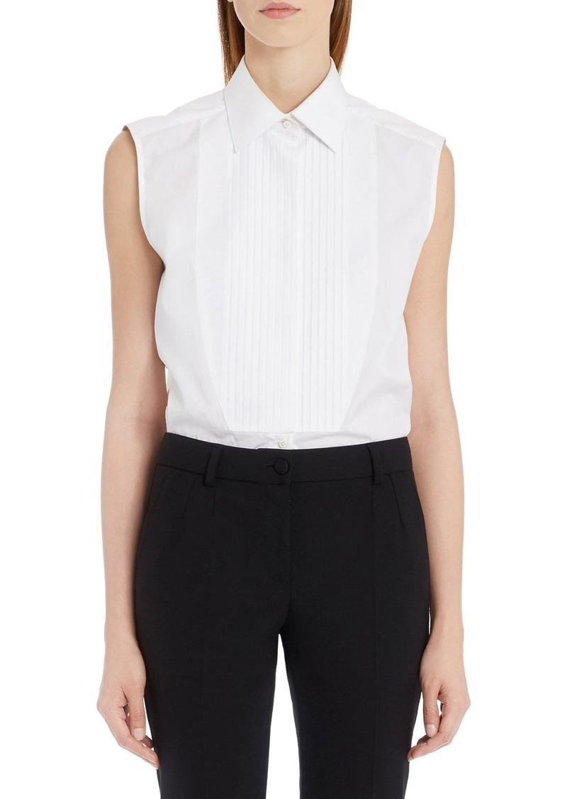 Dolce & Gabbana Dolce&Gabbana Sleeveless Tuxedo Top
