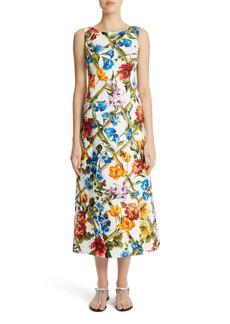 Dolce & Gabbana Dolce&Gabbana Slit Floral Brocade Dress