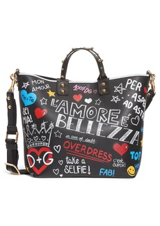 Dolce & Gabbana Dolce&Gabbana Small Beatrice Graffiti Tote