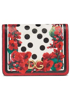 Dolce & Gabbana Dolce&Gabbana Small Geranium Print Leather Wallet
