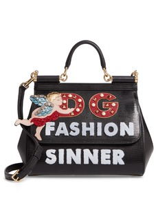 Dolce & Gabbana Dolce&Gabbana Small Miss Sicily - Fashion Sinner Leather Satchel