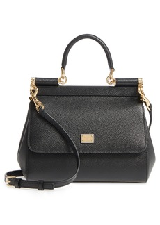 Dolce & Gabbana Dolce&Gabbana Small Miss Sicily Leather Satchel