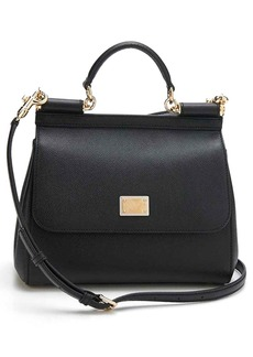 Dolce & Gabbana Dolce&Gabbana 'Small Miss Sicily' Leather Satchel