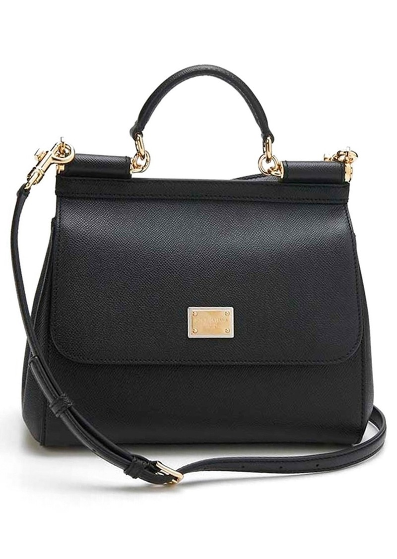 Dolce & Gabbana Dolce&Gabbana Small Sicily Leather Satchel