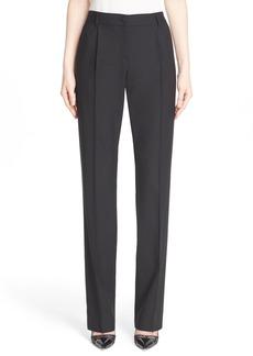 Dolce & Gabbana Dolce&Gabbana Straight Leg Stretch Wool Pants