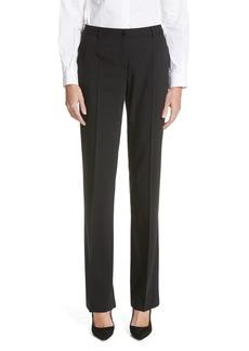 Dolce & Gabbana Dolce&Gabbana Straight Leg Stretch Wool Trousers