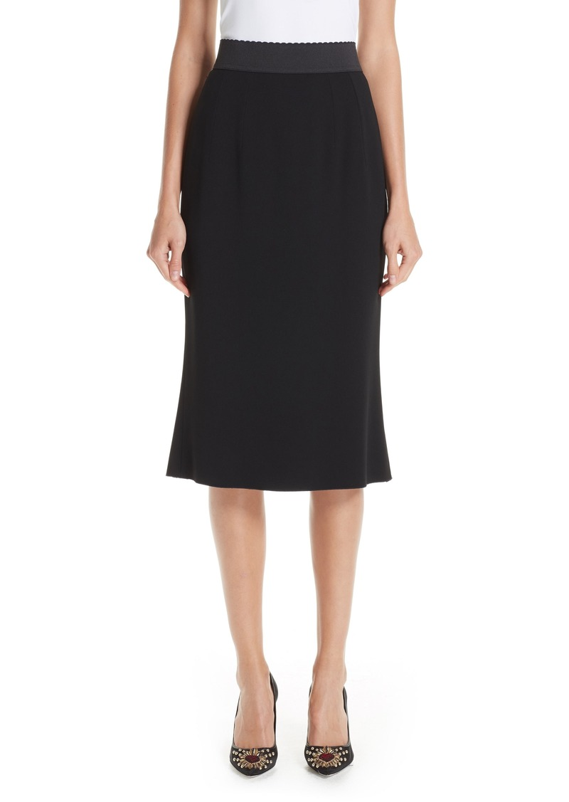 Dolce & Gabbana Dolce&Gabbana Stretch Cady Pencil Skirt