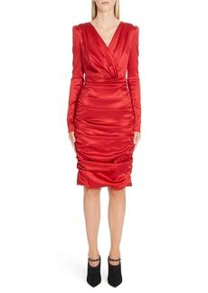 Dolce & Gabbana Dolce&Gabbana Stretch Silk Satin Sheath Dress
