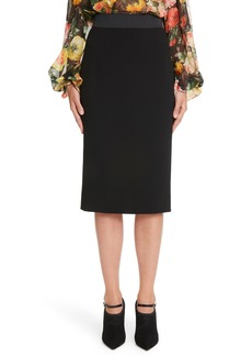 Dolce & Gabbana Dolce&Gabbana Stretch Wool Pencil Skirt